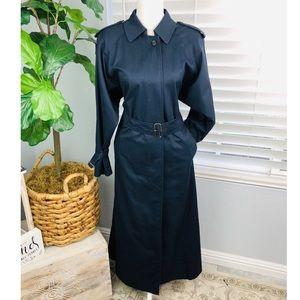 NAVY BLUE BURBERRY VINTAGE TRENCH COAT